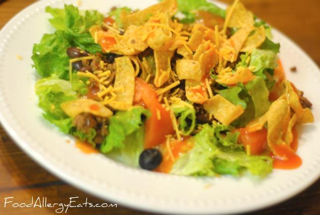 allergy free taco salad