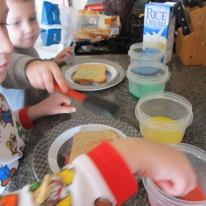 rainbow toast, dairy free toast