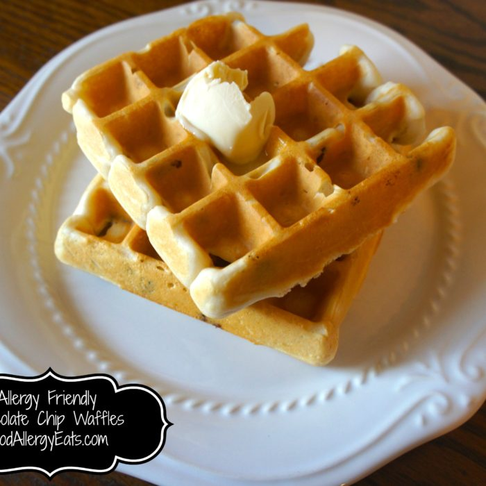 Chocolate Chip Waffles @FoodAllergyEats