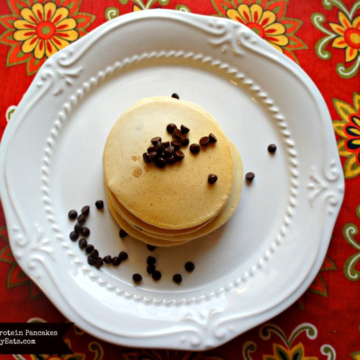 Chocolate Chip Protein Pancakes from FoodAllergyEats.com