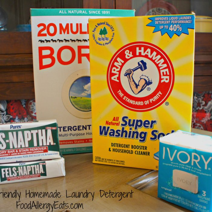 Allergy Sensitive Homemade Laundry Detergent @FoodAllergyEats