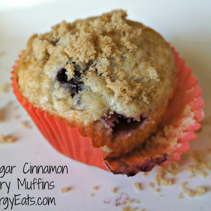 Brown Sugar Cinnamon Blueberry Muffins #vegan @FoodAllergyEats