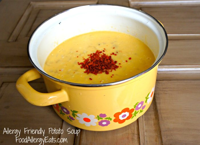 Allergy Friendly Potato Soup Recipe #foodallergies