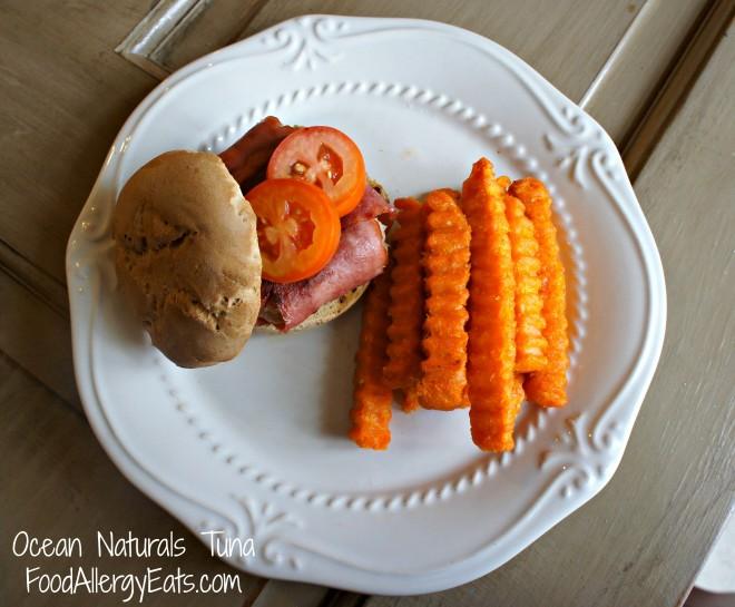 Ocean Naturals Tuna Burger @FoodAllergyEats #shop