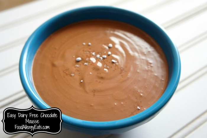 Dairy Free Chocolate Mousse #foodallergies #vegan