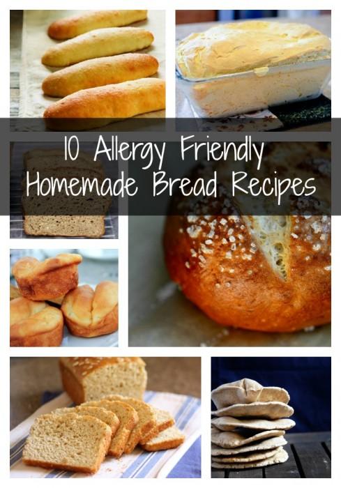 10 Allergy Friendly Homemade Bread Recipes #glutenfree