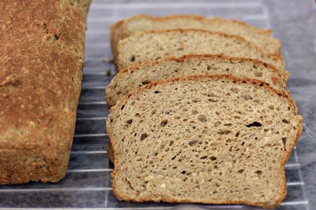 Brown Sandwich Bread with Teff, Gluten-Free