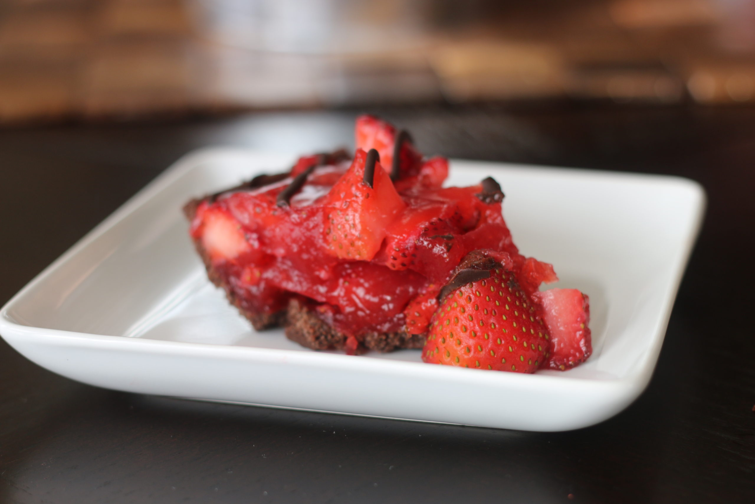 Gluten Free Chocolate Covered Strawberry Pie