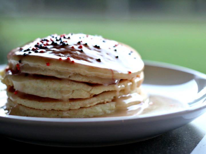 Allergy Friendly Cake Batter Pancakes