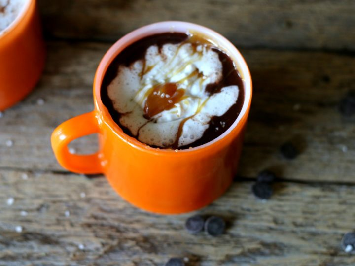 Vegan Salted Caramel Hot Chocolate